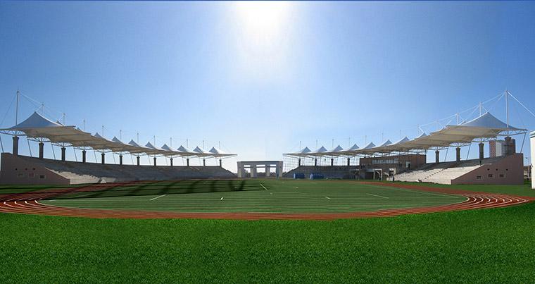 Liaoning university of engineering and technology calabash island campus stadium