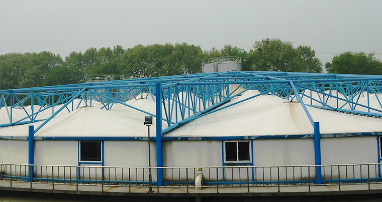 Ding qiao sewage treatment plant was installed in the summer of 14 years